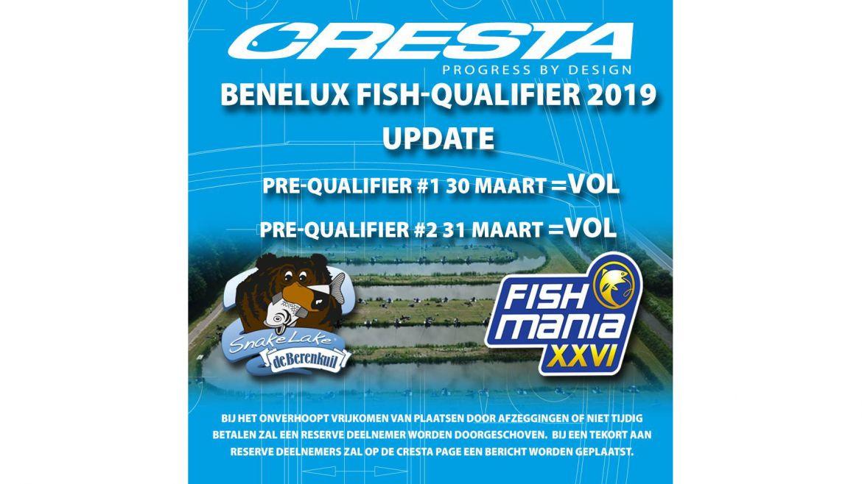 Inschrijvingen Cresta Fish-O Qualifier = VOL